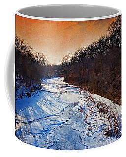 Evening Frozen Creek Coffee Mug