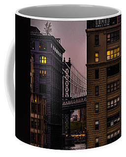 Coffee Mug featuring the photograph Evening In Dumbo by Chris Lord