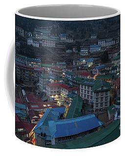 Coffee Mug featuring the photograph Evening In Namche Nepal by Mike Reid