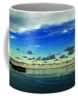 Coffee Mug featuring the photograph Evening In Paradise Panoramic by Sue Melvin