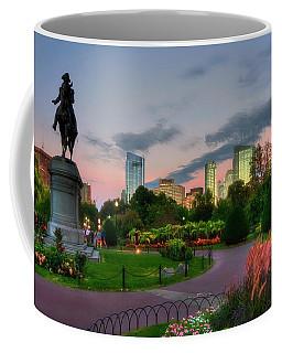 Evening In The Boston Public Garden  Coffee Mug