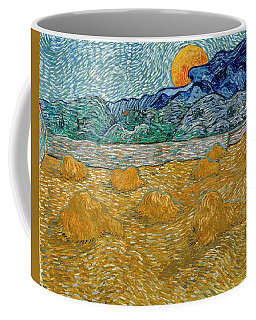 Coffee Mug featuring the painting Evening Landscape With Rising Moon by Van Gogh
