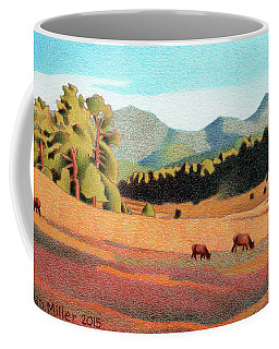 Evening Light Evergreen Coffee Mug