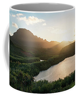 Coffee Mug featuring the photograph Evening Light In Kauai by James Udall