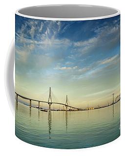 Evening Lights On The Bay Cadiz Spain Coffee Mug