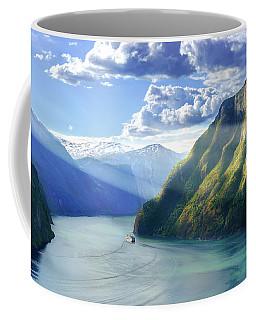 Evening Over Geirangerfjord Coffee Mug
