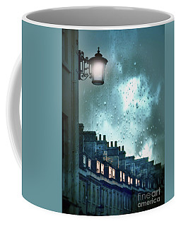 Coffee Mug featuring the photograph Evening Rainstorm In The City by Jill Battaglia