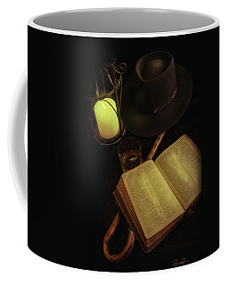Coffee Mug featuring the photograph Evening Reading by Ann Lauwers