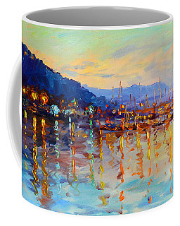 Evening Reflections In Piermont Dock Coffee Mug