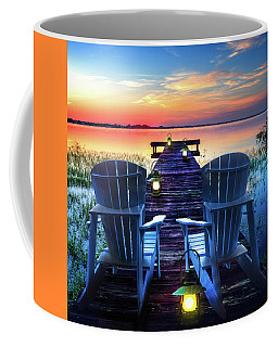 Coffee Mug featuring the photograph Evening Romance by Debra and Dave Vanderlaan