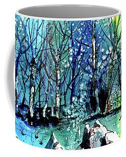 Evening Snowstorm Coffee Mug