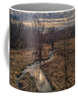 Evening Sun On The Creek Coffee Mug