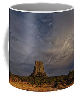 Evening Time At Devils Tower Coffee Mug