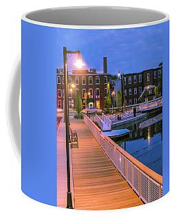 Coffee Mug featuring the photograph Evening Walk At Nashawannuck Pond by Sven Kielhorn