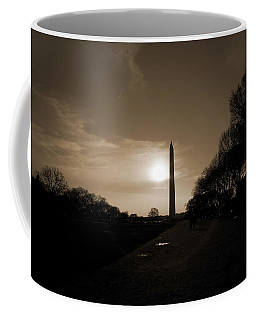 Evening Washington Monument Silhouette Coffee Mug