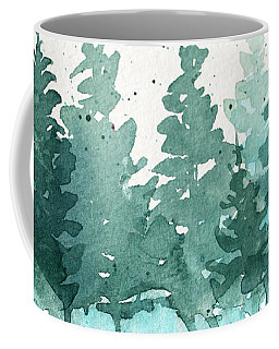 Evergreen Abstract Coffee Mug