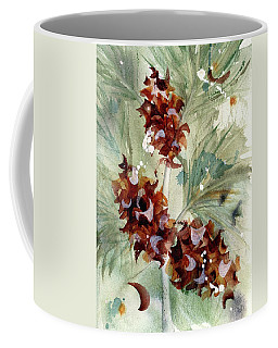 Coffee Mug featuring the painting Evergreen Branch by Dawn Derman