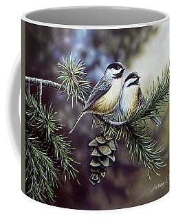 Evergreen Chickadees Coffee Mug