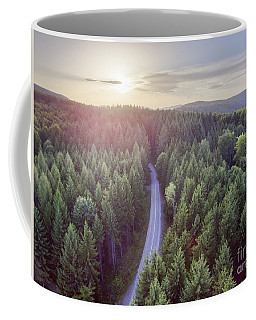 Evergreen Forest From Above Coffee Mug