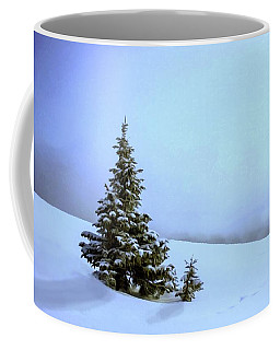 Coffee Mug featuring the painting Evergreen Offspring P D P by David Dehner