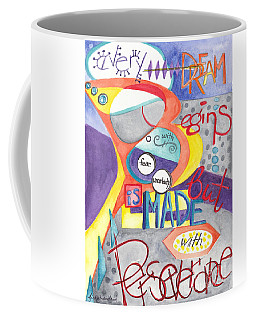 Coffee Mug featuring the painting Every Dream Begins by Erin Fickert-Rowland