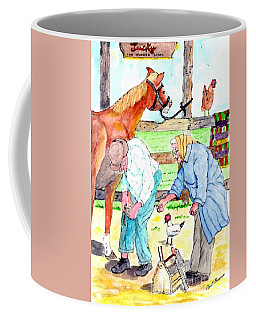 Everyone Works Coffee Mug