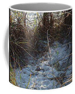 Coffee Mug featuring the photograph Everything Grows In The Sand by Robert Margetts