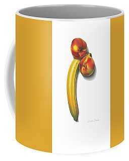 Eve's Favorite Fruit Coffee Mug by Donna Basile