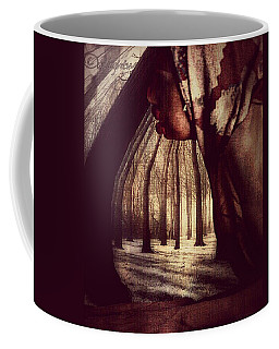 Coffee Mug featuring the digital art Evie Regrets by Delight Worthyn