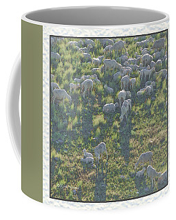 Ewes And Lambs - Digital Painting Coffee Mug by Kae Cheatham