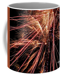 Coffee Mug featuring the photograph Exciting Fireworks #0734 by Barbara Tristan