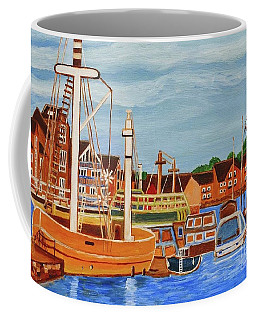 Coffee Mug featuring the painting Exeter Ship Canal  by Magdalena Frohnsdorff