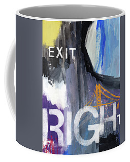 Exit Right- Art By Linda Woods Coffee Mug