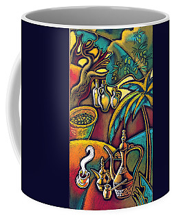 Coffee Mug featuring the painting Exotic East, Coffee And Olive Oil by Leon Zernitsky