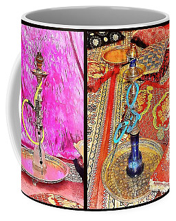 Exotic Oriental Hookah Pipe Collage Coffee Mug