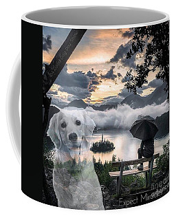 Coffee Mug featuring the digital art Expect Miracles by Kathy Tarochione