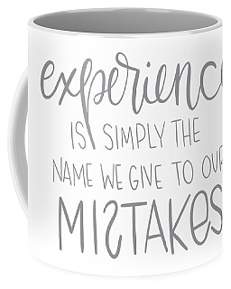 Coffee Mug featuring the mixed media Experience by Nancy Ingersoll