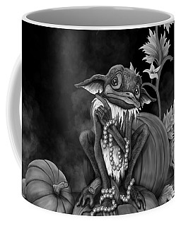 Explain Yourself - Black And White Fantasy Art Coffee Mug