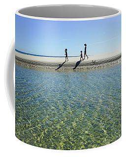 Exploring A Tidal Beach Lagoon Coffee Mug