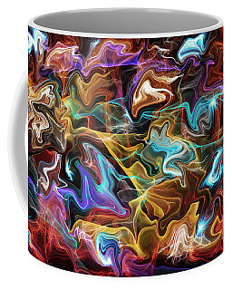 Explosion Of Colors Out Of The Darkness  Coffee Mug by Jim Fitzpatrick