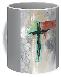 Expressionist Cross 3- Art By Linda Woods Coffee Mug