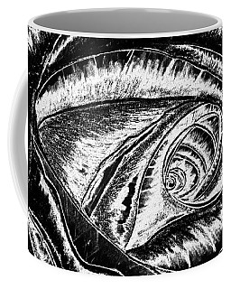 A0216a Expressive Abstract Black And White Coffee Mug