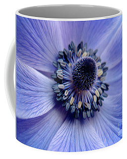Expressive Blue And Purple Floral Macro Photo 706 Coffee Mug