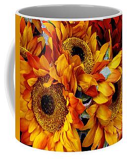 Expressive Digital Sunflowers Photo Coffee Mug