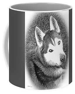 Expressive Siberian Husky Mixed Media A4617 Coffee Mug