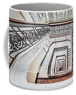 Coffee Mug featuring the photograph Exquisite Staircase Nyc  by Susan Candelario