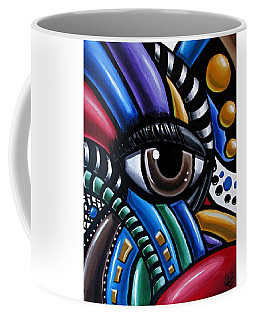 Eye Abstract Art Painting - Intuitive Chromatic Art - Pineal Gland Third Eye Artwork Coffee Mug