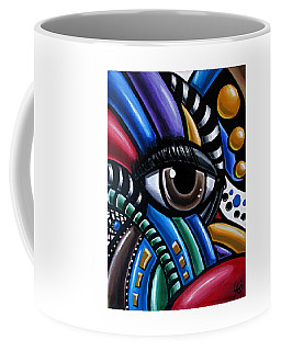 Eye Abstract Art Painting - Intuitive Chromatic Art - Pineal Gland Third Eye Artwork Coffee Mug