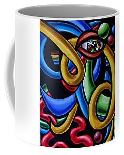 Colorful Illusion Optical Eye Art Painting Chromatic Art - Multicolor Chromatic Energy Flow Art  Coffee Mug