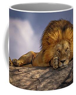 Eye Contact On The Serengeti Coffee Mug
